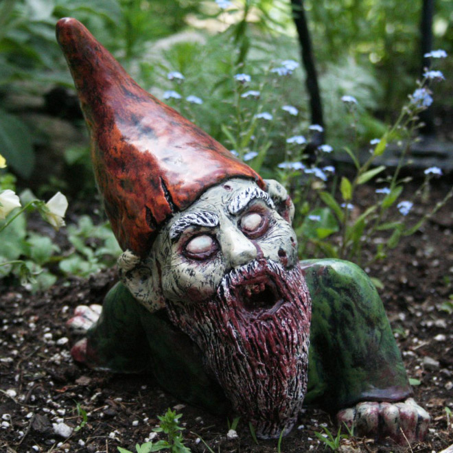 Zombie garden gnome.