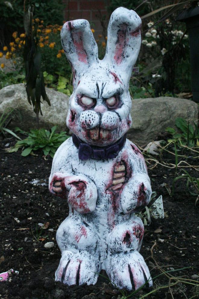 Zombie garden bunny.