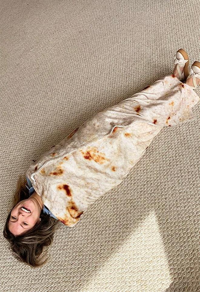Burrito blanket.