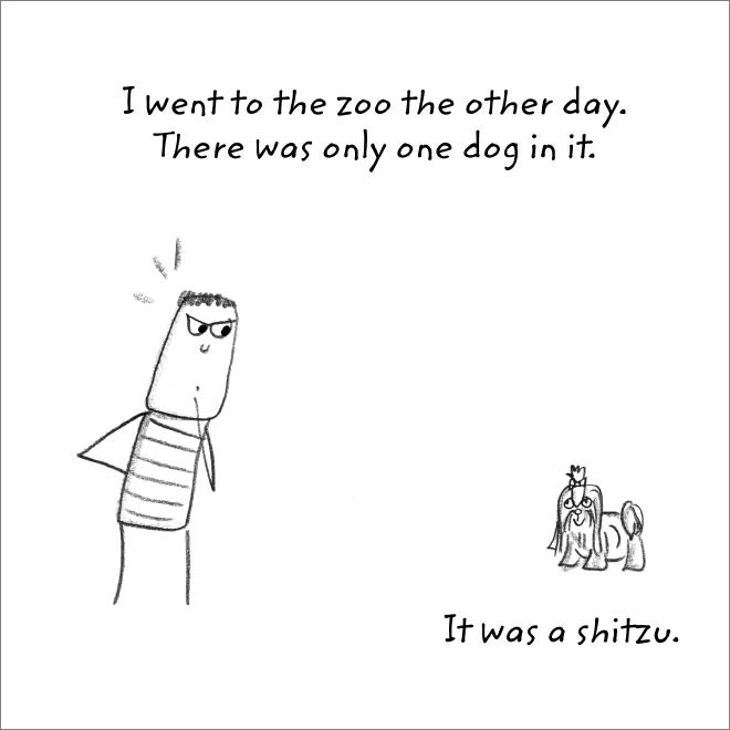 Jeu de mots de zoo.