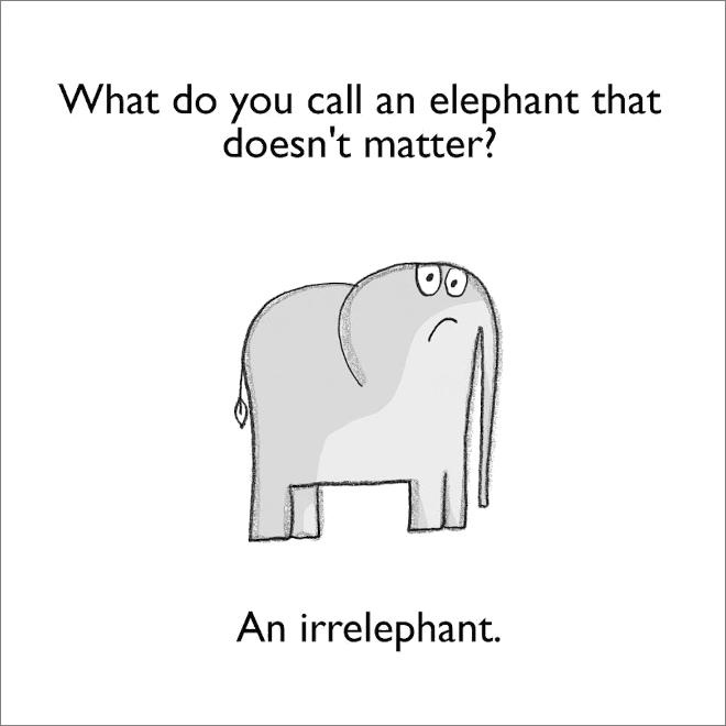 Jeu de mots sur l'éléphant.