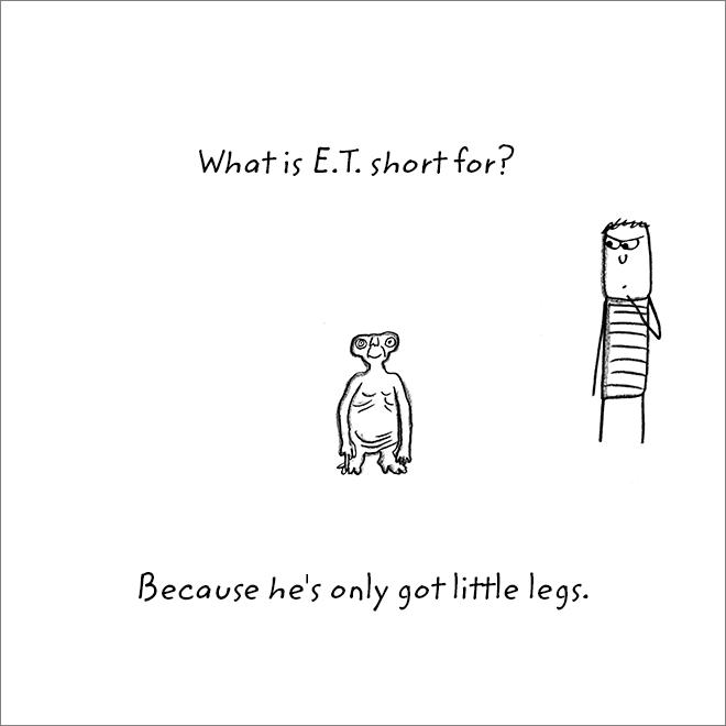 Jeu de mots sur les jambes.