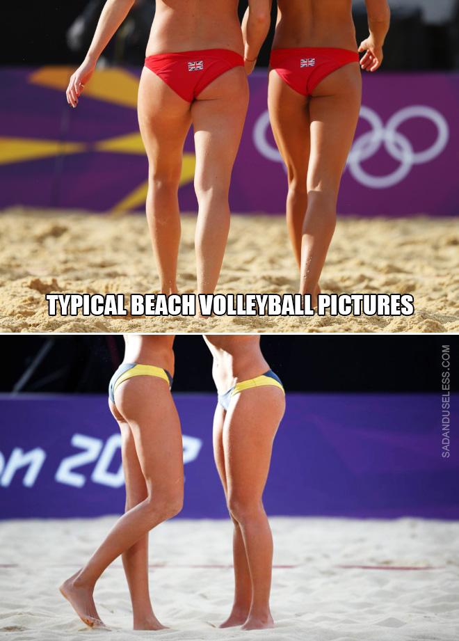 Volley-ball de plage féminin.