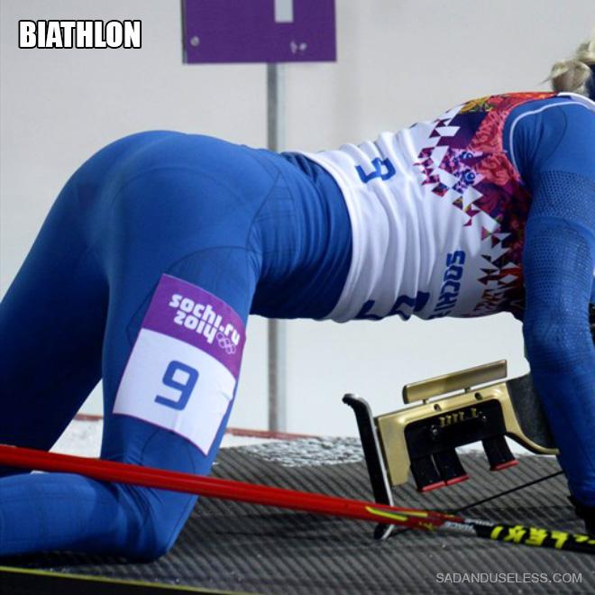 Biathlon butt.