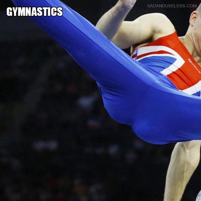 Gymnastics butt.