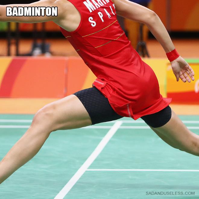 Fesses de badminton.