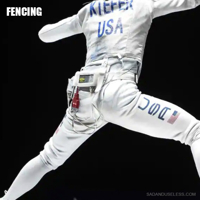 Fencing butt.