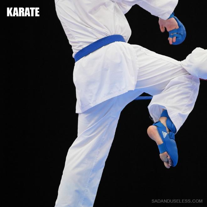 Karate butt.
