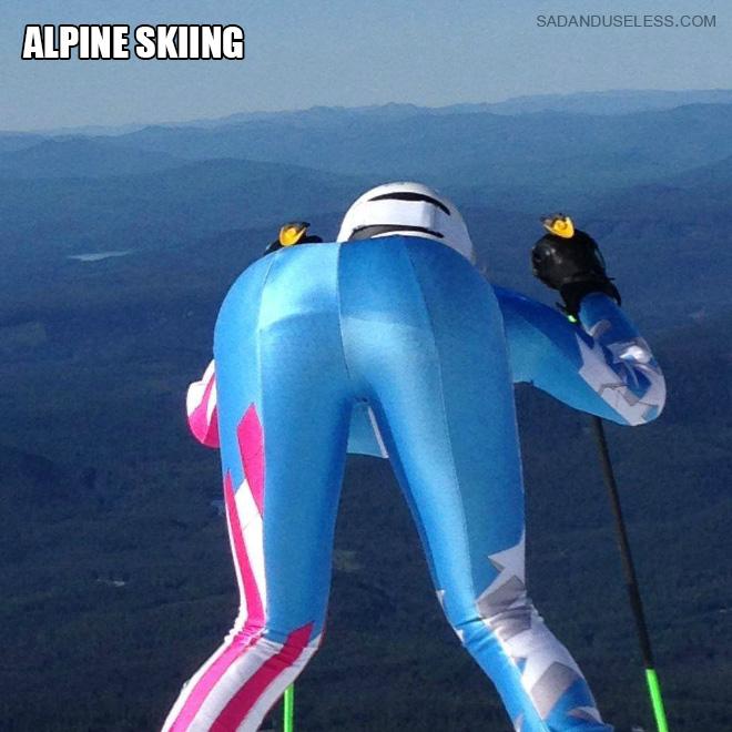 Alpine skiing butt.
