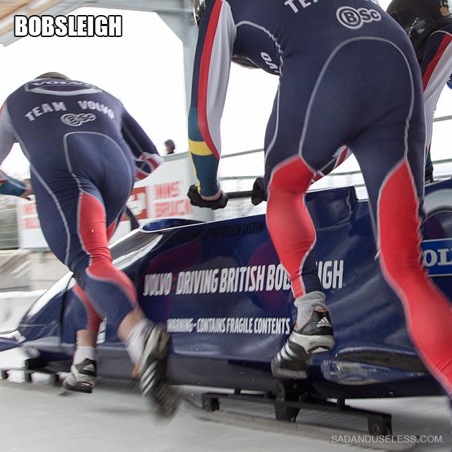 Des fesses de bobsleigh.