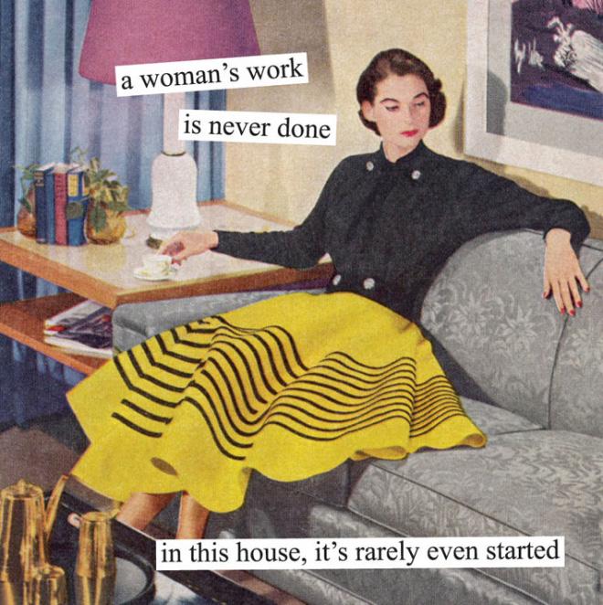Parodie d'image rétro sarcastique par Anne Taintor.