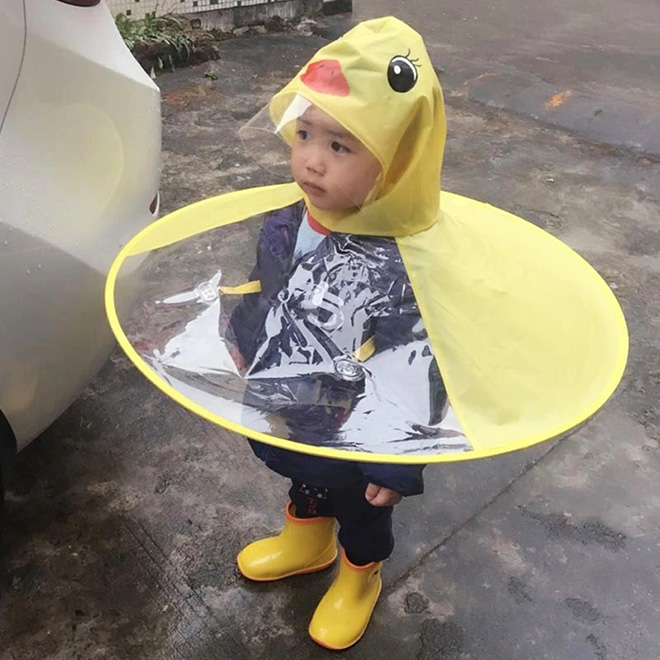 Imperméable canard.