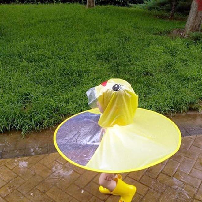 Imperméable canard jaune.