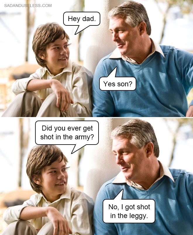 Vous êtes-vous déjà fait tirer dessus dans l'armée ?