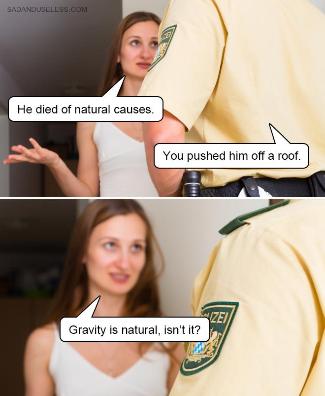 Il est mort de causes naturelles.