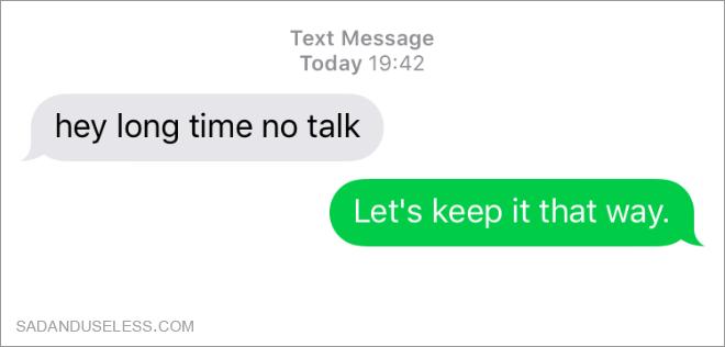 Parler avec votre ex.