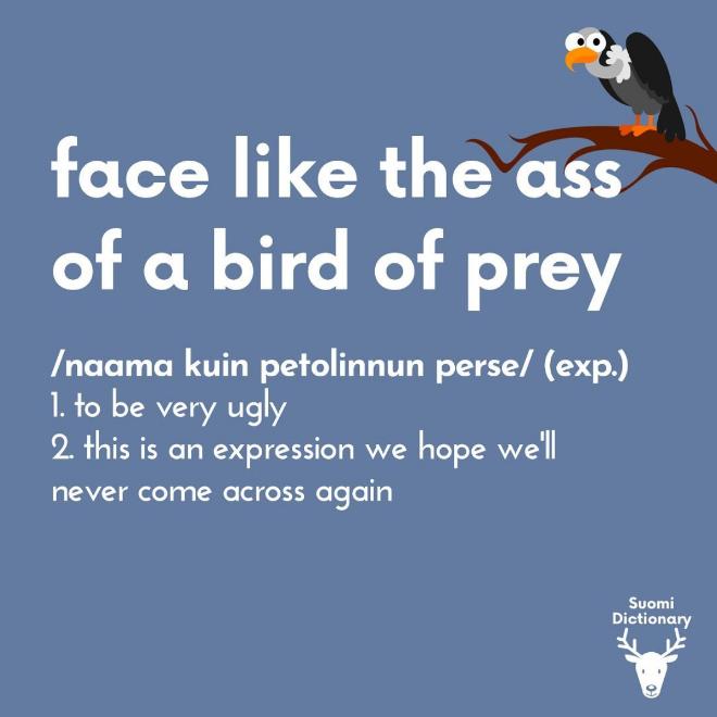 Funny Finnish saying.
