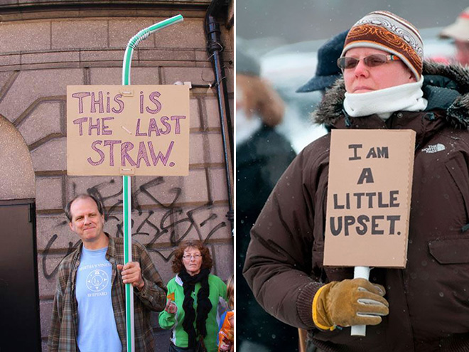Hilariously polite protest signs.