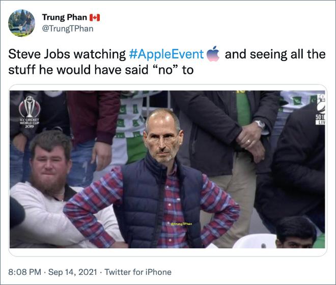 Steve Jobs is not amused.