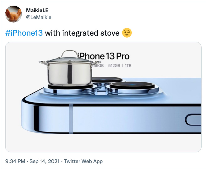 #iPhone13 with integrated stove.