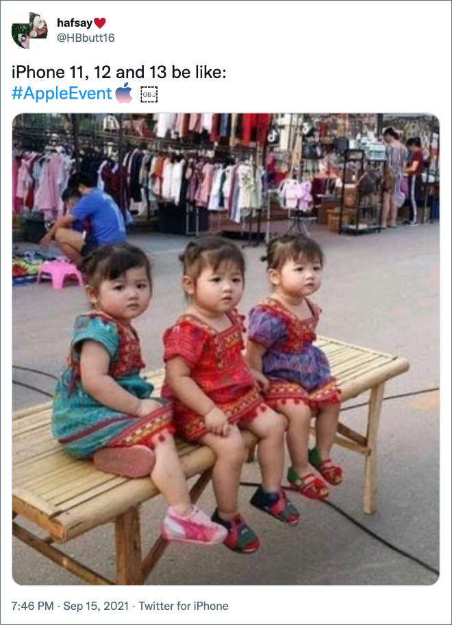 iPhone 11, 12 and 13 be like...