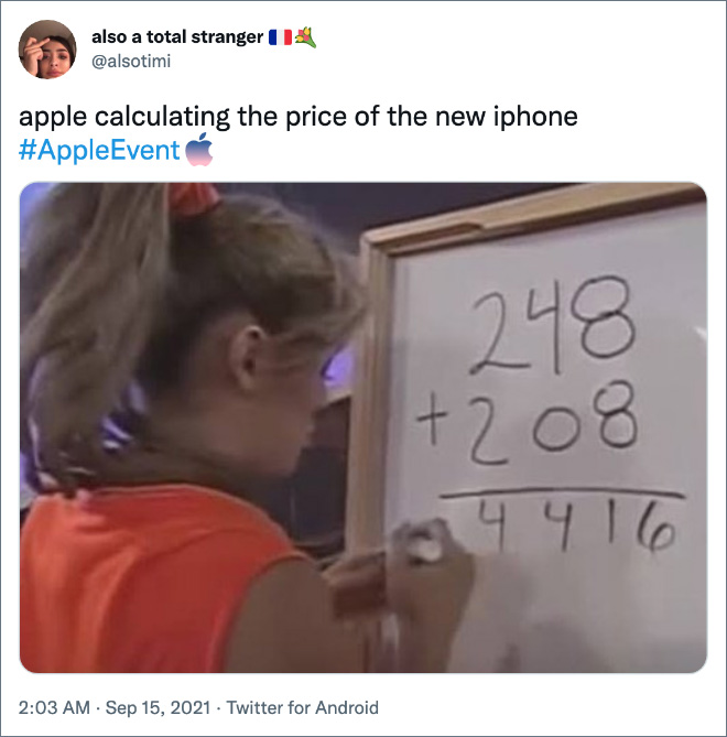 Apple calculating the price of the new iPhone.