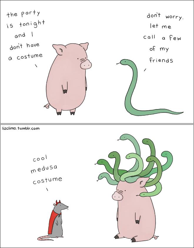 Dessin animé Halloween par Liz Climo.