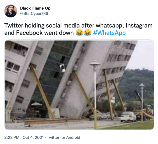 Twitter holding social media after whatsapp, Instagram and Facebook went down