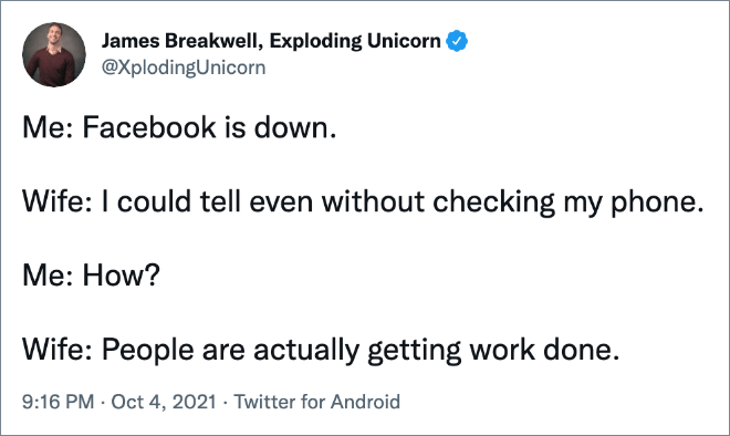 Facebook is down...