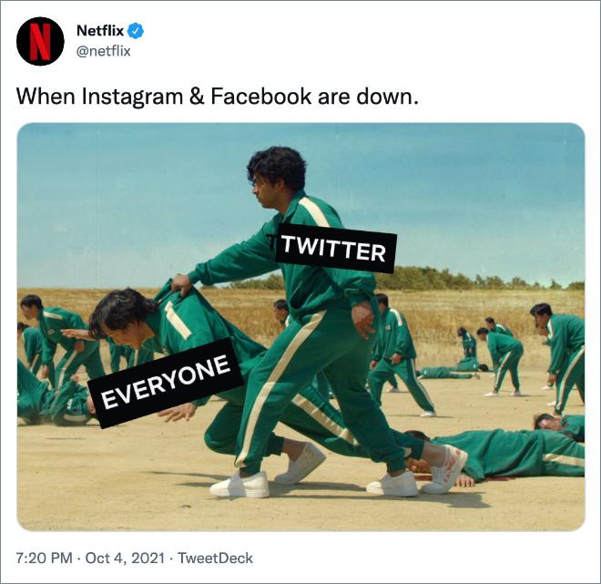 When Instagram & Facebook are down.