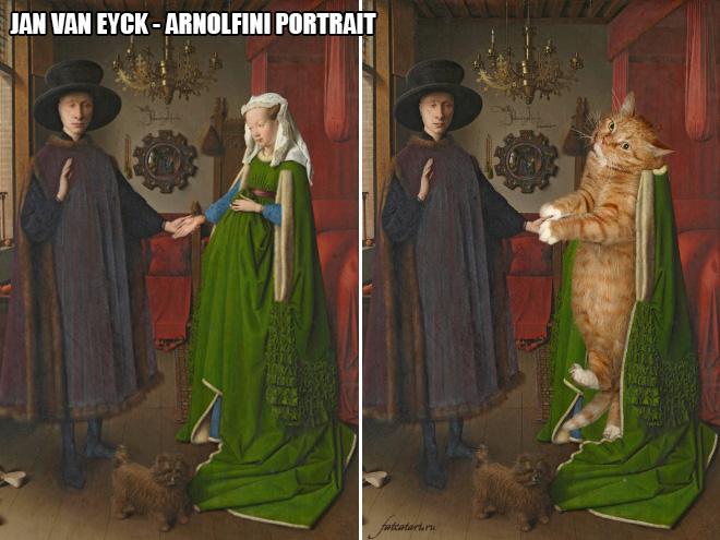 Fat cat art.