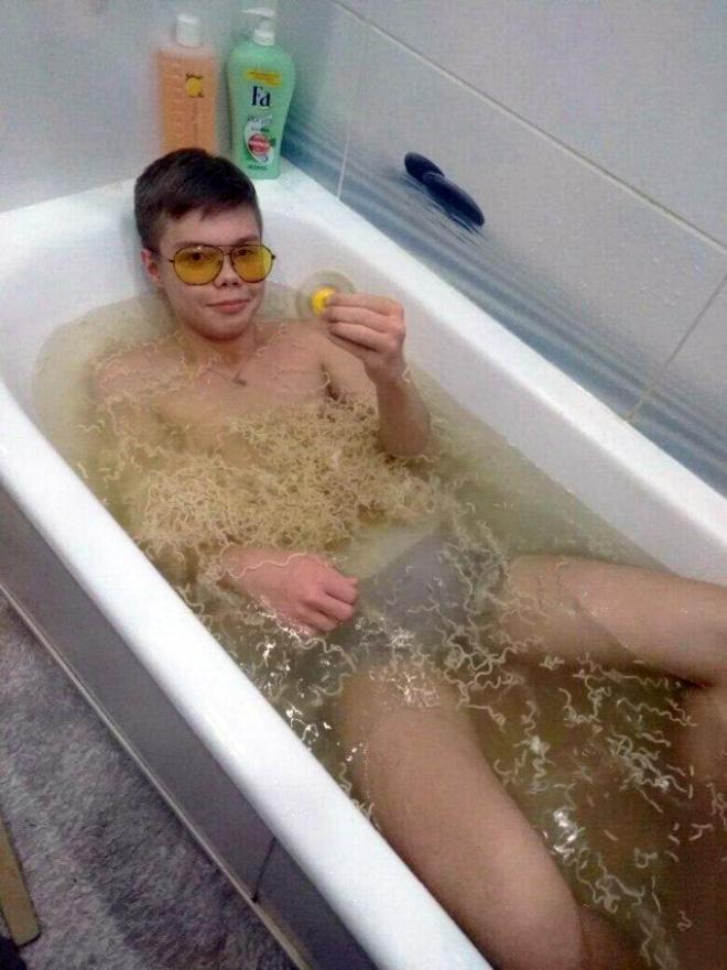 Ramen bath.
