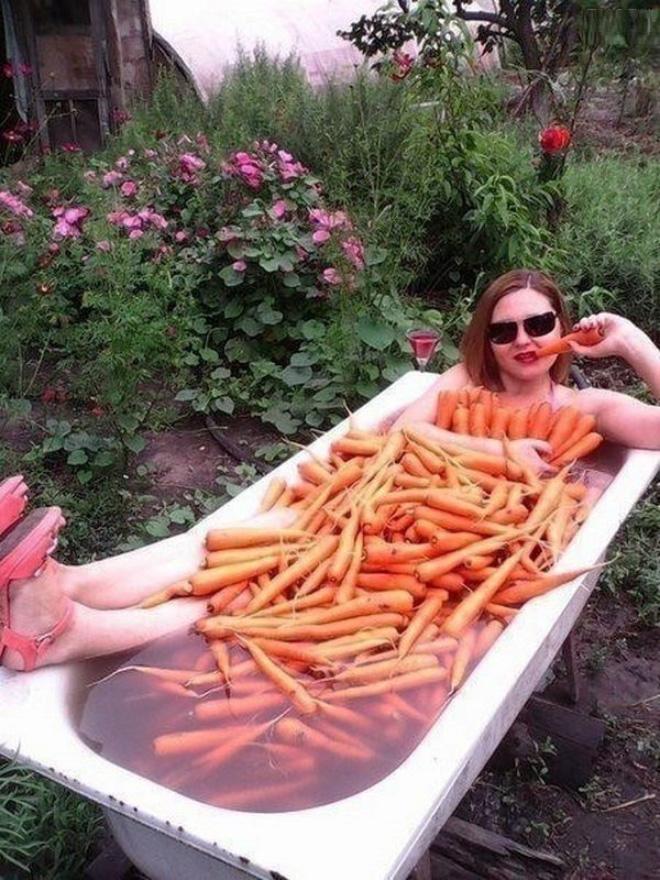 Carrot bath.