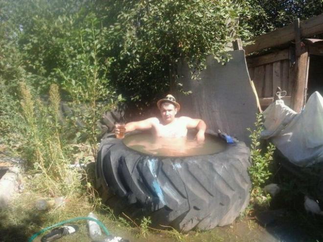 Russian bath.