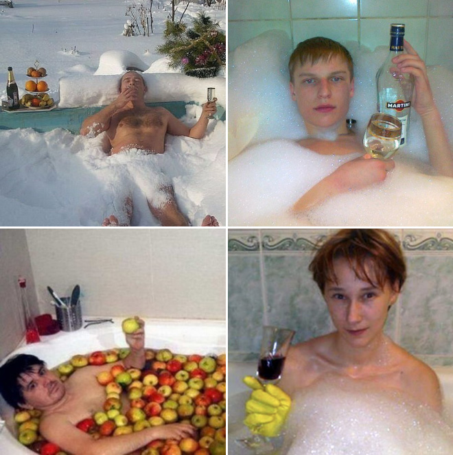 Relaxing Russians.