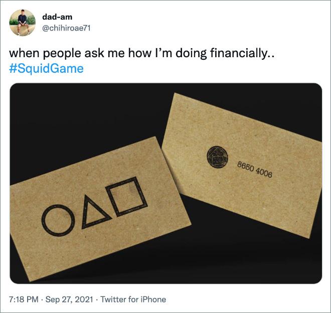 quand les gens me demandent comment je vais financièrement..