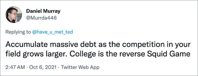 College est juste un jeu de calmar inversé.